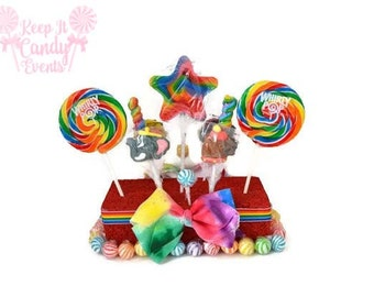 Circus Lollipop Centerpiece, Carnival Candy Centerpiece, Rainbow Lollipop Centerpiece, Circus Birthday, Carnival Birthday, Carnival Wedding