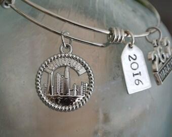 Chicago Marathon Bracelet // Marathon Finisher gift // 26.2 bracelet  // chicago charm // chicago 2016