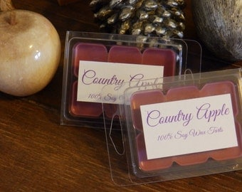 Country Apple Scent 100% Soy Wax Melts Breakaway Tarts - 2oz - 6 melts - SHIPS NEXT DAY