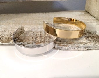 Simple Silver Bangle Bracelet, Simple Gold Bangle Bracelet, Layering Bracelet