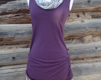 Dreamy Soft Bamboo Lavender Cowl Neck Tunic Size XS