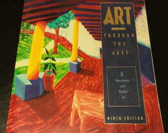Vintage Book Art Through the Ages II Renaissance and Modern Art Paperback Copyright 1991