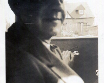 Vintage Photo..Dad's Driving the Car 1930's, Original Photo, Old Photo Snapshot, Vernacular Photography, American Social History Photo
