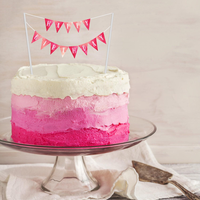 60 OFF Sale Birthday Cake Banner PRINTABLE Cake Topper