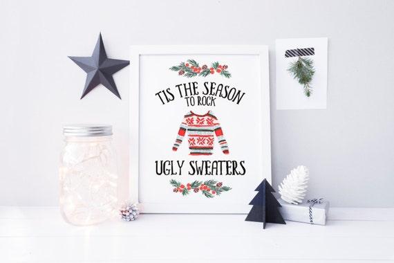 tis the season to rock ugly sweaters printable