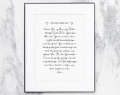 Martin Luther's Morning Prayer | Scripture Art Print  | Calligraphy | CP-NRD