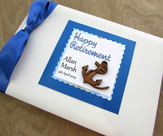 Retirement Guest Book Personalised Leaving Party Gift Birthday Memory ...