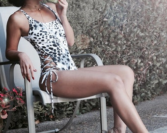 MADE TO ORDER: Side Lace Up One Piece Swimsuit