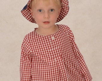 Organic baby shirt WIGGERL organic cotton Plaid Shirt dress