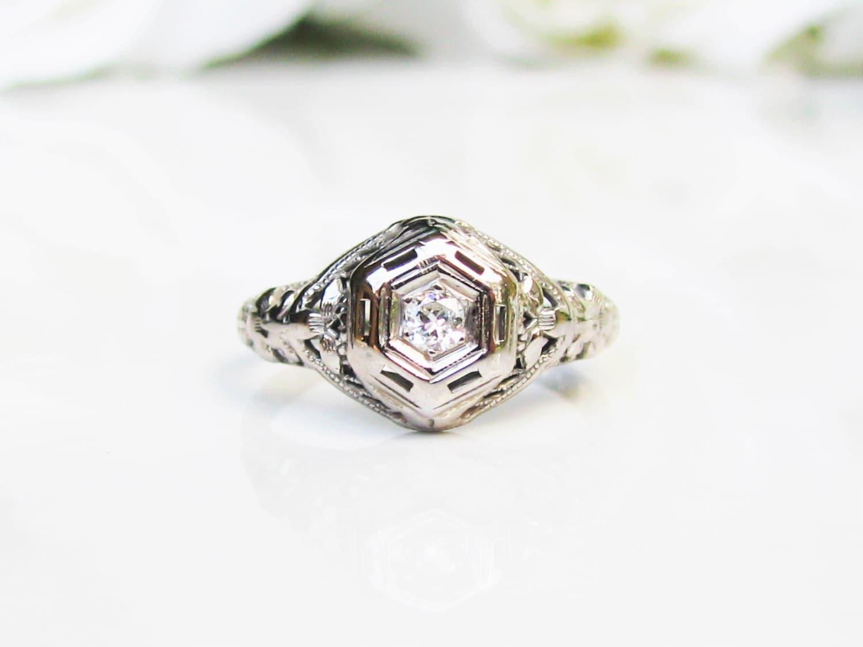 antique edwardian engagement ring european cut
