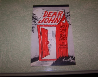 Dear John Way Out (Back) Note Pads by Vagabond Creations Dayton Ohio bathroom humor