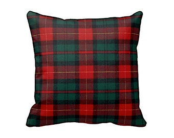 Plaid Throw Pillow Cover Plaid Pillow Cover Red Pillow Covers Green Pillow Covers Christmas Decor Christmas Pillows Flannel Pillows