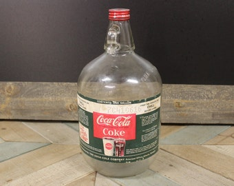 Vintage Coke Gallon Jug Glass Bottle Coca-Cola