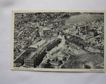Goodall Sandford Mills, Maine Postcard - fashion industry postcard, black and white postcard
