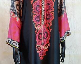 Digital Silk Blend Shirt with Crystal Embellishments