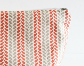 Standing Make-up Bag | Coral and Gray | Shannon Fraser Designs