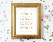 Personalized Love Story Sign . Wedding Sign . Bridal Shower Sign . Digital Download . Wedding Gift . Anniversary Gift . Printable Sign