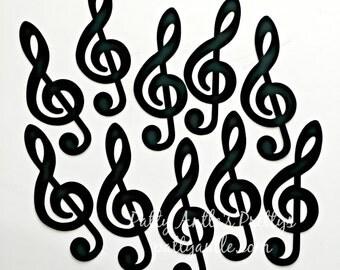 Treble Clef Die Cuts, Treble Clef Confetti, G Clef Die Cuts, Music Die Cuts, Music Confetti, Choir Die Cuts, Band Die Cuts, Concert Die Cuts