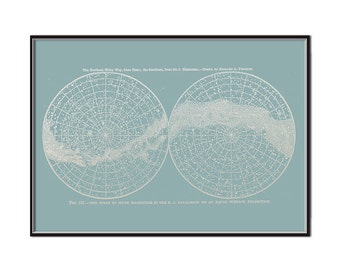 Northern and Southern Hemisphere - PRINTABLE FILE. Large Scale Andromeda Galaxy Milky Way Print. Solar System Poster. Celestial Star Chart.