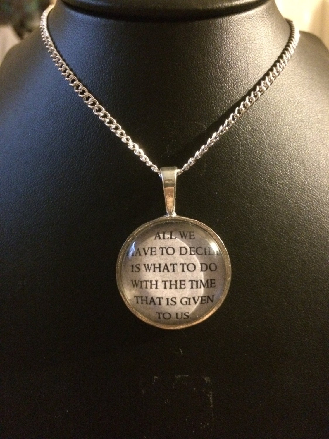 lord of the rings necklace by charleerambocrafts on etsy