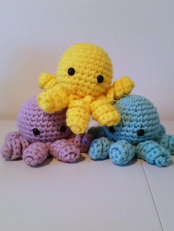 Octopus Amigurumi Plush : Big Crochet Octopus Amigurumi Octopus Plush Large Octopus