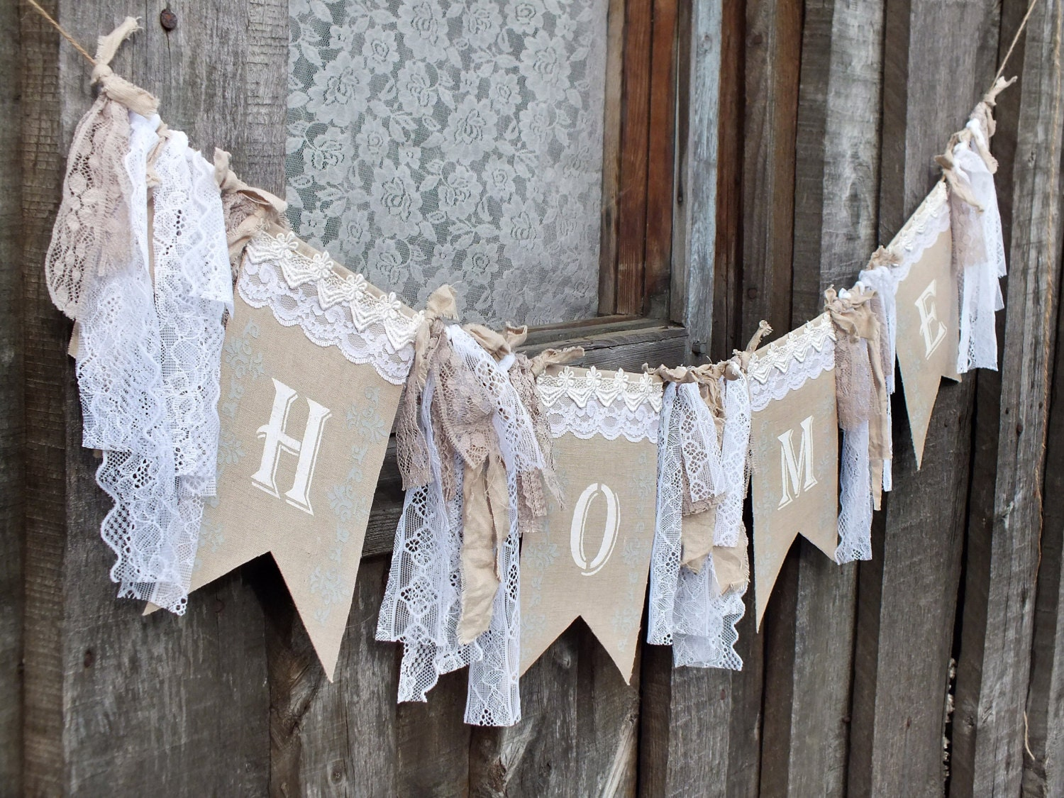 Home Bunting Home Decor Wall Art Lace Bunting Home Decor