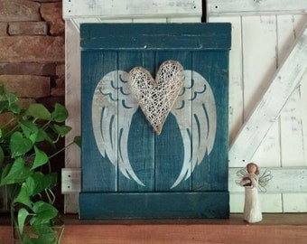 ANGEL WING DECOR, rustic angel wings, angel symbolism, rustic gift for mother, rustic nursery wall decor, distressed shabby chic decor