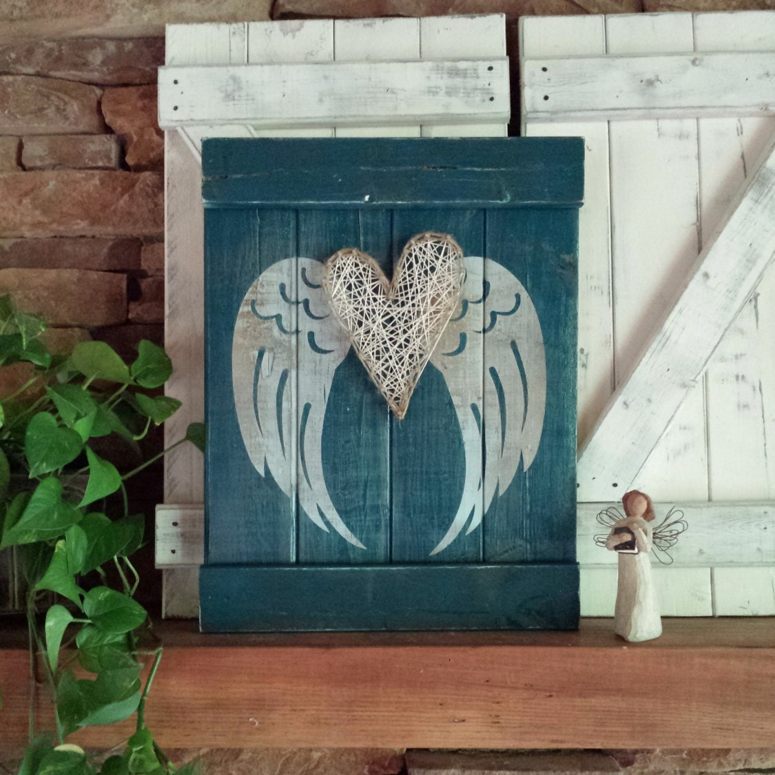 Rustic Angel Wings Wall Decor : Angel wing decor rustic wings by elevenowlsstudio
