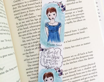 Pride and Prejudice Gift - Elizabeth Bennet - Jane Austen - bookmark