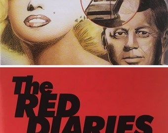 Marilyn Monroe Comic, JFK Assassination, Red Diaries Number One, Caliber Comics,  Red Cover Edition, Signed by Artist, Numbered