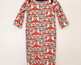 Newborn Gown (Organic Cotton)