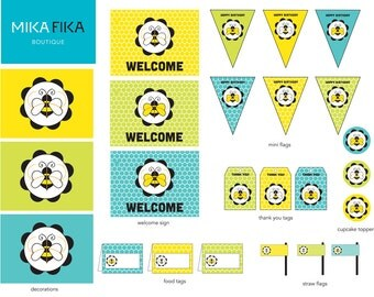 Bumble Bee Party Printable Set