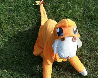 Large costume for dogs, costumes, pet costume, Halloween outfit, Charmander  costume, Halloween, costumes , S,XXL