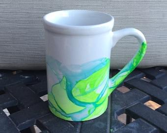 Handmade Watercolor Mug