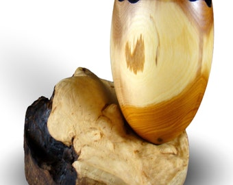 Balance - Yew Vessel - Home Decor - Handmade Wood Art
