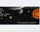NASA Souvenir Postcard 20th Anniversary of First Moon Landing July 20, 1969, Astronaut and Space Exploration Souvenir