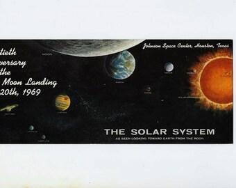 NASA Souvenir Postcard 20th Anniversary of First Moon Landing July 20, 1969, Astronaut and Space Exploration Souvenir