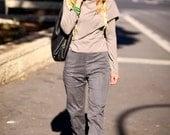 Long sleeve top with a twist-Smokey color  top-women's shirt-women's blouse-winter top-fall top-fall fashion-Dragon wing top