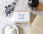 LAVENDER - Ellie's Handmade Soap - 100% Natural + Cold Process Olive Oil Soap - 4 ounce bar