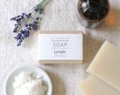LAVENDER - Ellie's Handmade Soap - 100% Natural + Cold Process Olive Oil Soap - 4 ounce bar