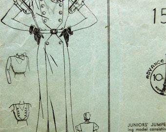 Vintage Advance 870 Sewing Pattern, 1930s Dress Pattern, INCOMPLETE, 1930s Frock Pattern, Jumper, 1930s Sewing Pattern, Bust 36, Day Dress