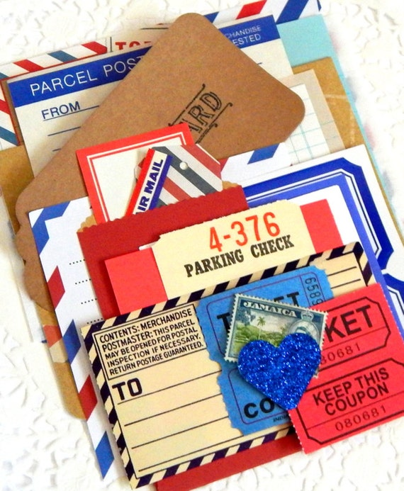 Vintage Airmail Paper Pack. Vintage Mail. Journal Ephemera