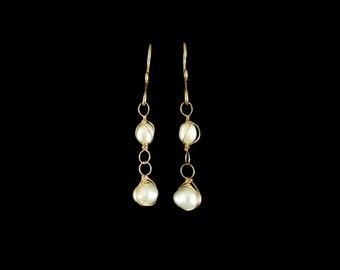 Pearl Earrings in 14k Gold | June Birthstone