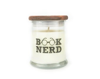 Book Nerd - Leather Books Scent - Book Candle - Book Lover Gift - Soy Candle - 12oz Jar