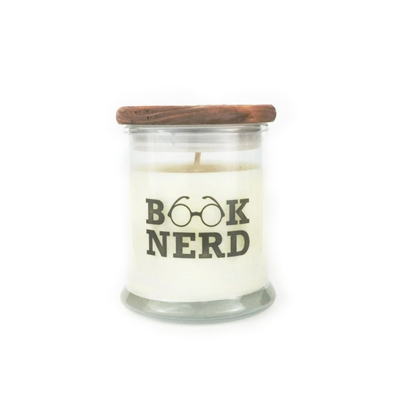 Book Nerd - Old Book Scent - Book Candle - Book Lover Gift - Soy Candle - 12oz Jar