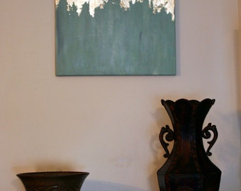 Gold Leaf Teal Painting   Gold Leaf Painting   Modern Art   Abstract Painting