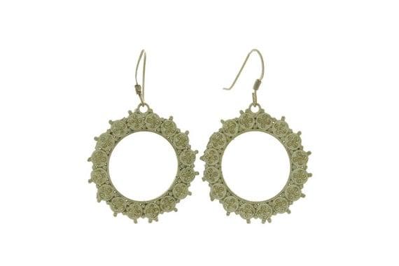 Golden Sun Earrings, Brass Earrings Tribal Earrings, Gypsy Earrings, Ethnic Earrings