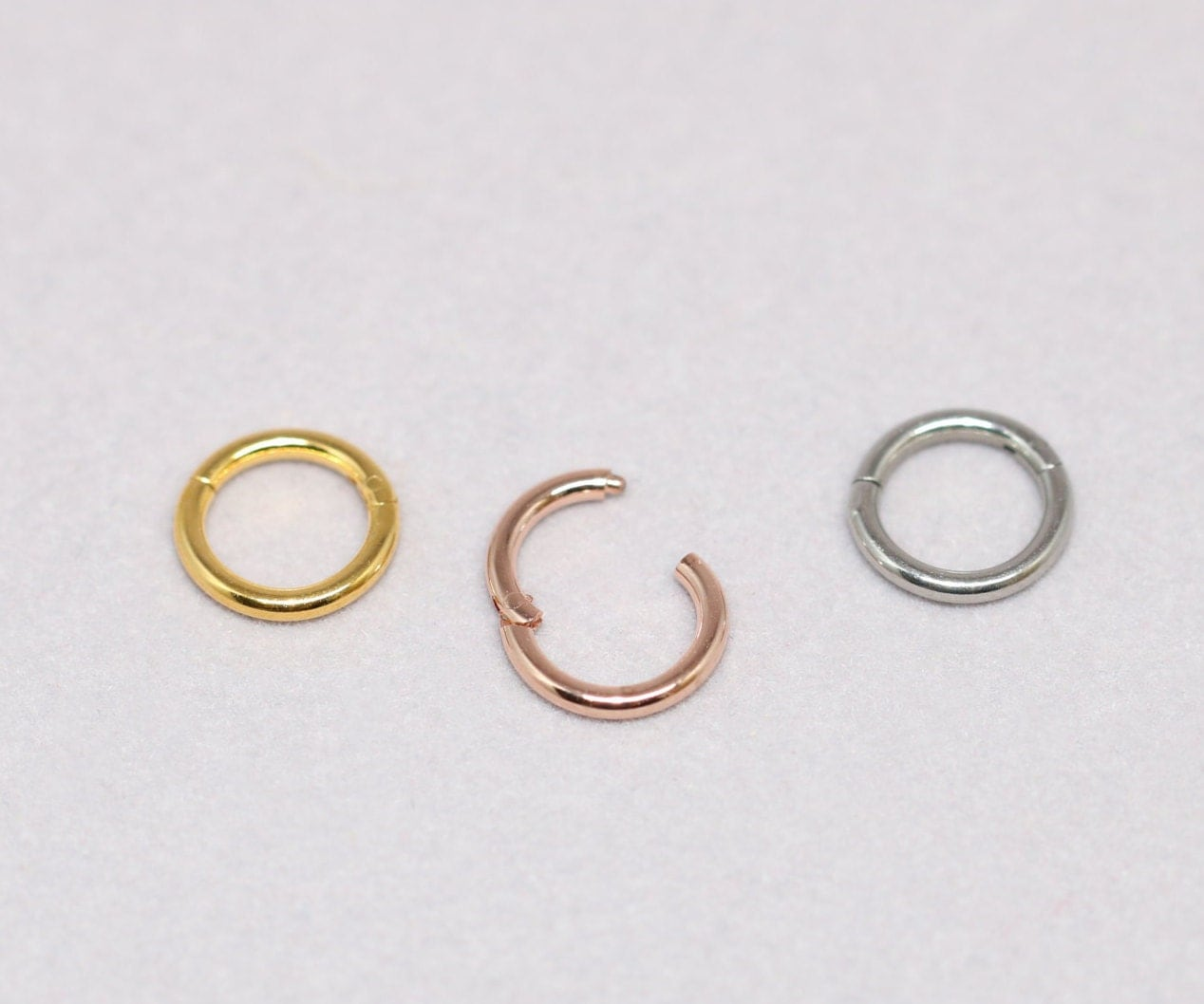 Cartilage Ring, Endless Hoop, 16g Cartilage Hoop Earring, Segment Ring,  Hinged Hoop