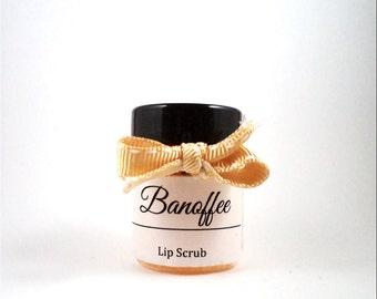 Banoffee Lip Scrub - Sugar Lip Scrub Natural Lip Scrub Handmade Lip Scrub - Sugar Scrub Banoffee Scrub Handmade Scrub Natural Scrub