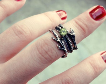 Peritode ring, Twig ring, elf ring, elvish ring, branch ring,fantasy ring, tree branch, promise ring, bague elfique, alternative engagement